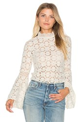 Free People Kiss And Bell Lace Top Ivory