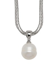 Honora 11 13Mm White Pearl And Sterling Silver Necklace