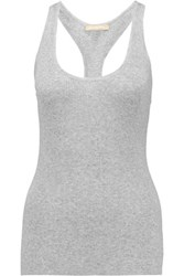 Michael Kors Collection Ribbed Knit Tank Gray