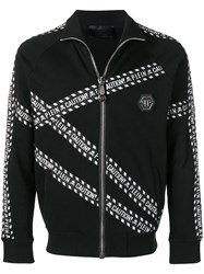 Philipp Plein Warning Track Jacket Black