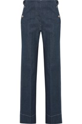 Christophe Lemaire Mid Rise Wide Leg Jeans Dark Denim