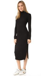 Cotton Citizen The Melbourne Midi Dress Jet Black