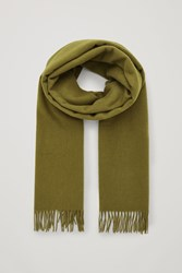 Cos Recycled Wool Cashmere Scarf Green