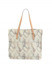 Foley Corinna Athena Printed Fabric Tote Bag Orange