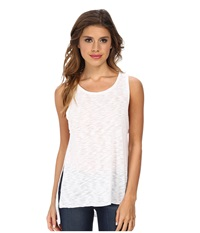 Lna High Slit Tank Top White Women's Sleeveless