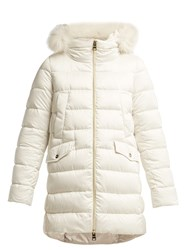 Herno Bonbon Quilted Down Coat Ivory