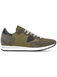 Philippe Model Tropez Sneakers Men Cotton Leather Polyester Rubber 41 Green