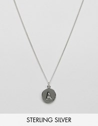 Fashionology Sterling Silver A Initial Necklace Silver