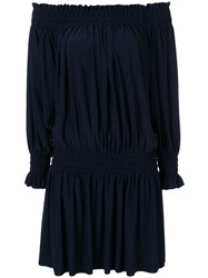 Norma Kamali Peasant Dress Blue