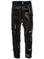 Heikki Salonen Skinny Fully Patched 5 Pocket Jean Black