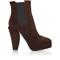 Marni Women's Platform Ankle Boots Dark Brown