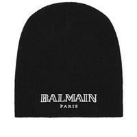 Balmain Embroidered Logo Beanie Black