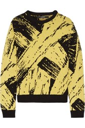 Sibling Paint Intarsia Wool Sweater Yellow