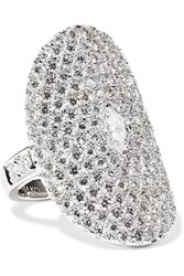 Anita Ko Saddle 18 Karat White Gold Diamond Ring 6