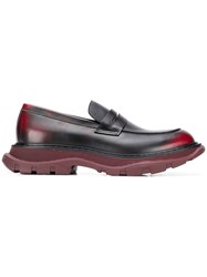 Alexander Mcqueen Chunky Sole Penny Loafers Red