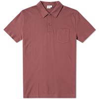 Sunspel Riviera Polo Red