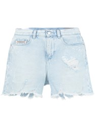 Calvin Klein Jeans Destroyed Denim Shorts Women Cotton 26 Blue