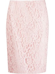 Martha Medeiros 'Marescot' Lace Pencil Skirt Pink And Purple