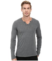 Mod O Doc Les Carillo Long Sleeve Notch Slub Jersey V Neck Stormy Men's Clothing Gray