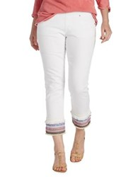 Jag Peri Straight Ankle Jeans White