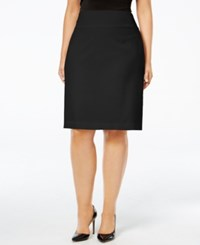 Alfani Plus Size Classic Pencil Skirt Deep Black