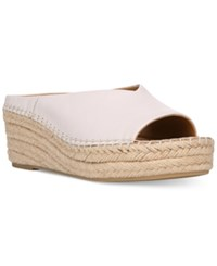 Franco Sarto Pine Slip On Espadrille Wedge Mules Women's Shoes White