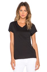 Zoe Karssen Loose Fit V Neck Tee Black