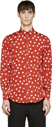 Dolce And Gabbana Red Polka Dot Shirt