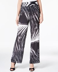 Bar Iii Printed Wide Leg Pants Only At Macy's Black Combo