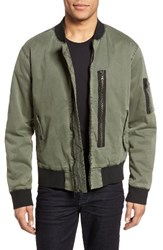 Hudson Jeans Men's Knox Twill Bomber Jacket Infantry Green