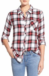 Women's Rails 'Hunter' Plaid Shirt White Red Black