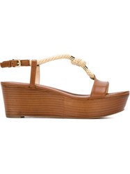 Michael Michael Kors 'Holly' Sandals Brown