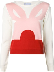 Minjukim Rabbit Ear Sweater White