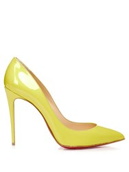Christian Louboutin Pigalle Follies 100Mm Patent Leather Pumps Yellow