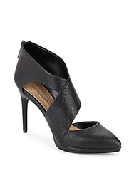 Bcbgmaxazria Davis Cutout Leather Booties Black