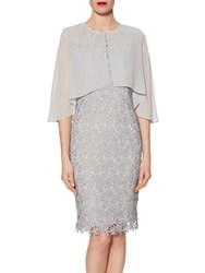 Gina Bacconi Chiffon Cape With Open Back Detail Summer Flint