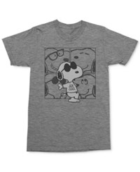 Mighty Fine Men's Snoopy T Shirt Graphite