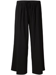 Thakoon Wide Leg Cropped Trousers Black