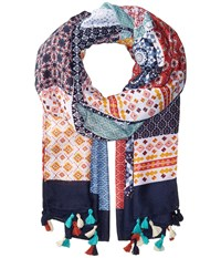 San Diego Hat Company Bss1739 Woven Multicolor Patchwork Multi Scarves