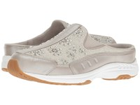 Easy Spirit Travel Jewel Silver Light Gold Leather Women's Shoes Beige
