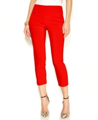 Alfani Skinny Pull On Capri Pants Only At Macy's New Red Amore