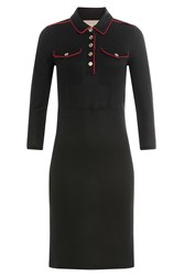 Burberry Brit Dress With Contrast Piping Black