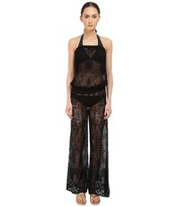 Roberto Cavalli Solid Lace Tuta Nero Women's Swimwear Black