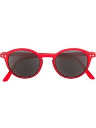 See Concept Round Shaped Sunglasses Red