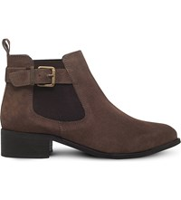 Miss Kg Shallow Leather Ankle Boots Taupe