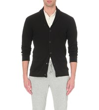 Polo Ralph Lauren Shawl Collar Waffle Knit Cardigan Polo Black