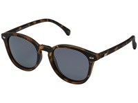 Le Specs Bandwagon Matte Tortoise Fashion Sunglasses Brown