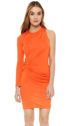 Issa Venice One Sleeve Dress Tangerine