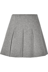 Alexander Wang T By Pleated Neoprene Mini Skirt Gray