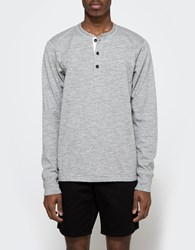 Rag And Bone Standard Issue Basic Henley In Medium Grey